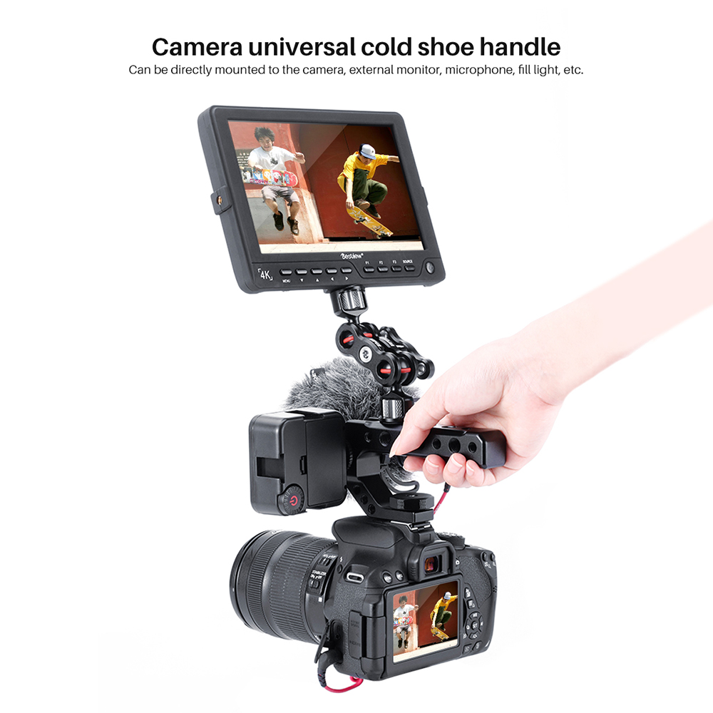 R005 DSLR Camera Hot Shoe Mount up Handle Rig for Sony A1000 A2000 Panasonnic GH5 GH5S Series black