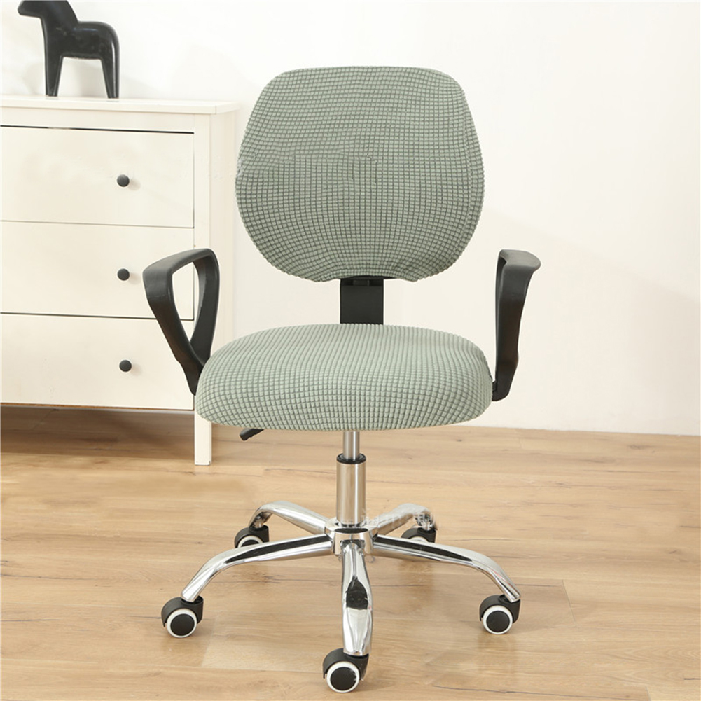 Stretch Office Computer Chair  Seat  Cover Removable Washable Anti-dust Desk Chair Seat Cushion Protectors blue