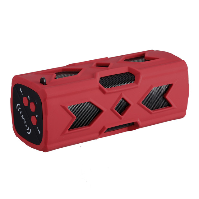 Portable Bluetooth Wireless Speaker IPX7 Waterproof Power Bank Ultra Bass Subwoofer red