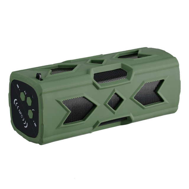 Portable Bluetooth Wireless Speaker IPX7 Waterproof Power Bank Ultra Bass Subwoofer green
