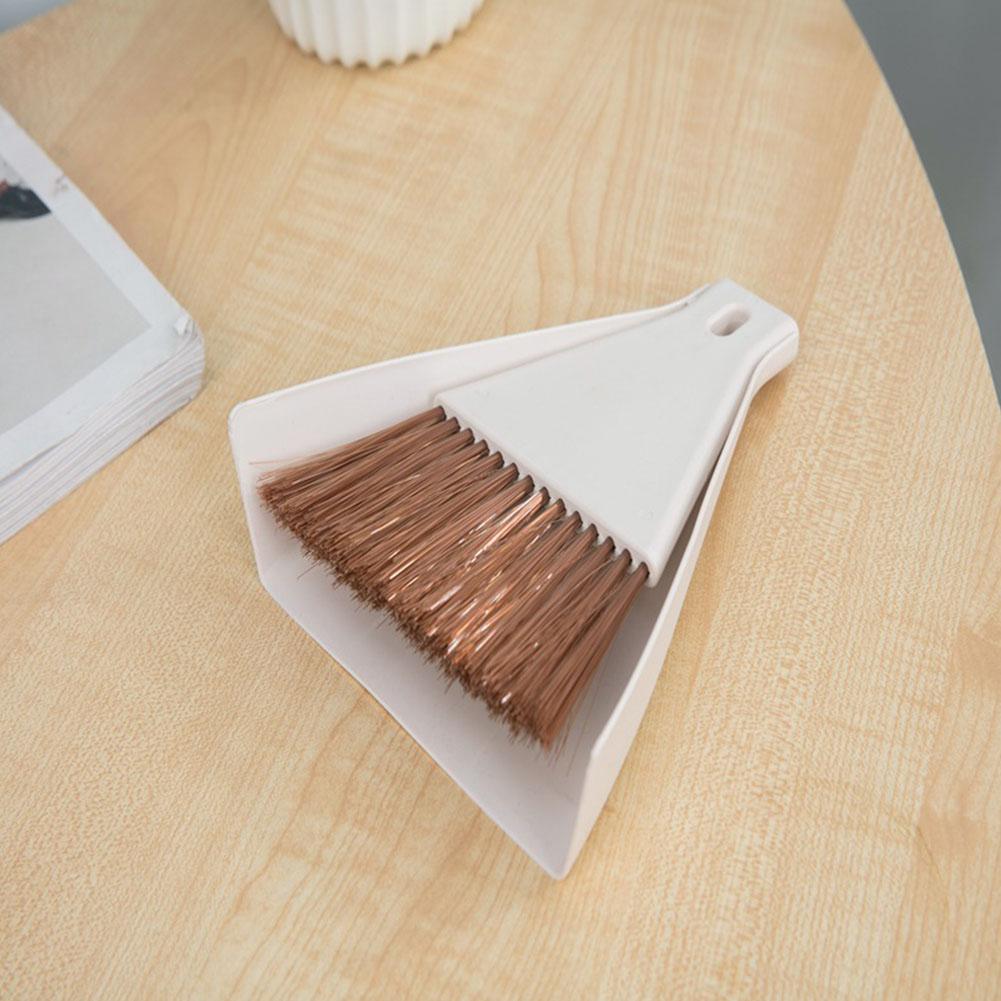 Desktop Mini Broom Set Household Sweeping Corner Brush white