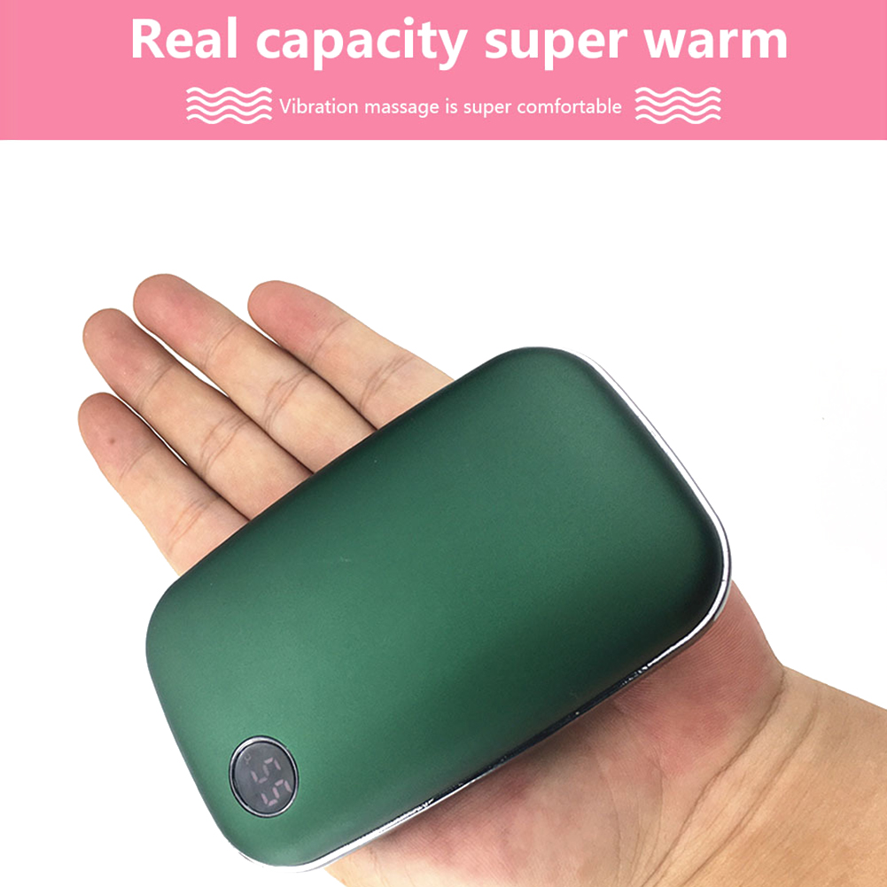 Charging Hand Warmer Mobile Power Portable Small Winter Portable Rechargable Heater green