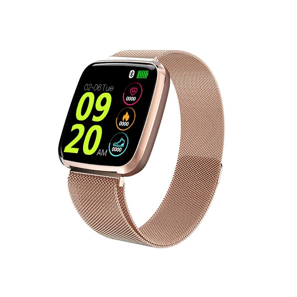 S7 Smart Watch Color Screen Sleep Heart Rate Monitor Sport Fitness Tracker Steel gold