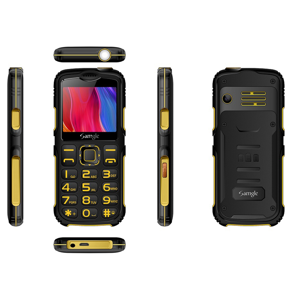 Samgle-S3 Big Button Mobile  Phone Keyborad Phone For Elderly GSM / WCDMA Mobile Phone Yellow   (UK Plug)