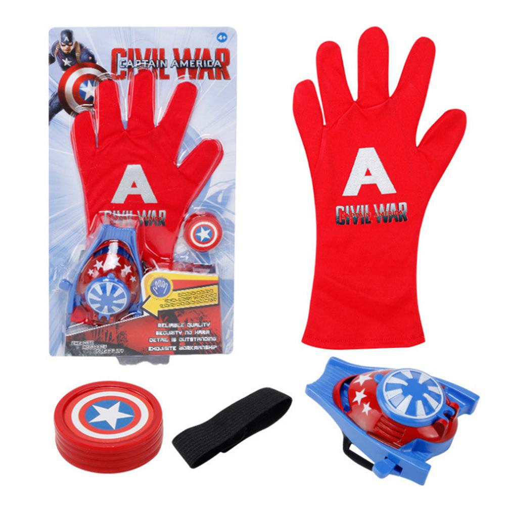 Children Cute Cartoon Movie Figure Gloves Toy Launcher Captain America