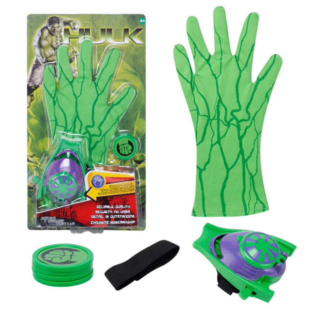 Children Cute Cartoon Movie Figure Gloves Toy Launcher Hulk