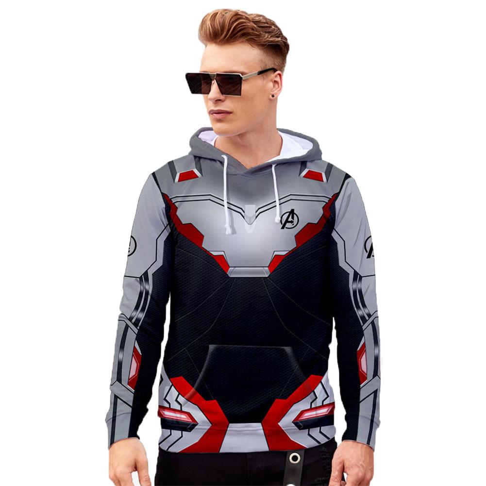 Unisex Advanced Tech 3D Fashion Pattern Long Sleeve Hooded Shirt Sweatshirts Q-3868-YH03_XL