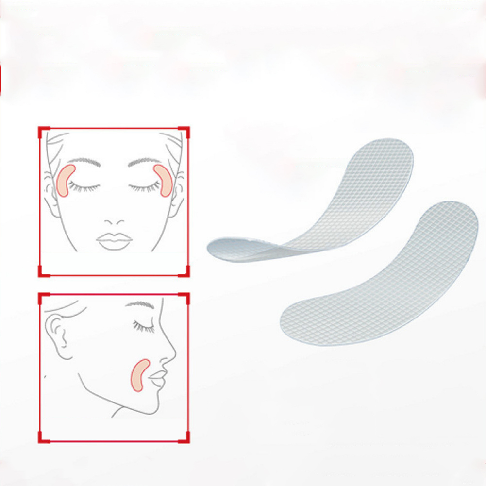 12/24/27pcs Face Line Wrinkle Sagging Skin Lift Up Tape Frown Smile Lines Anti-Wrinkle Patches apricot_24 pieces (3)