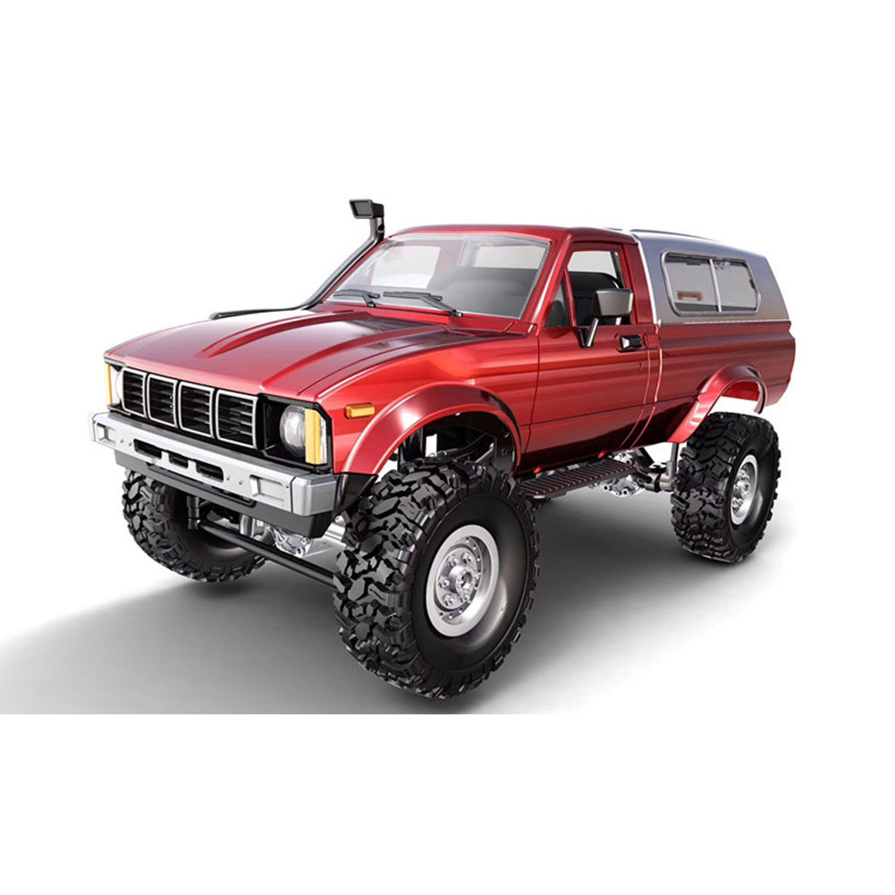 Remote Control Military Truck 4 Wheel Drive Off-Road RC Car Model Remote Control Climbing Car Gift Toy Red car box  package