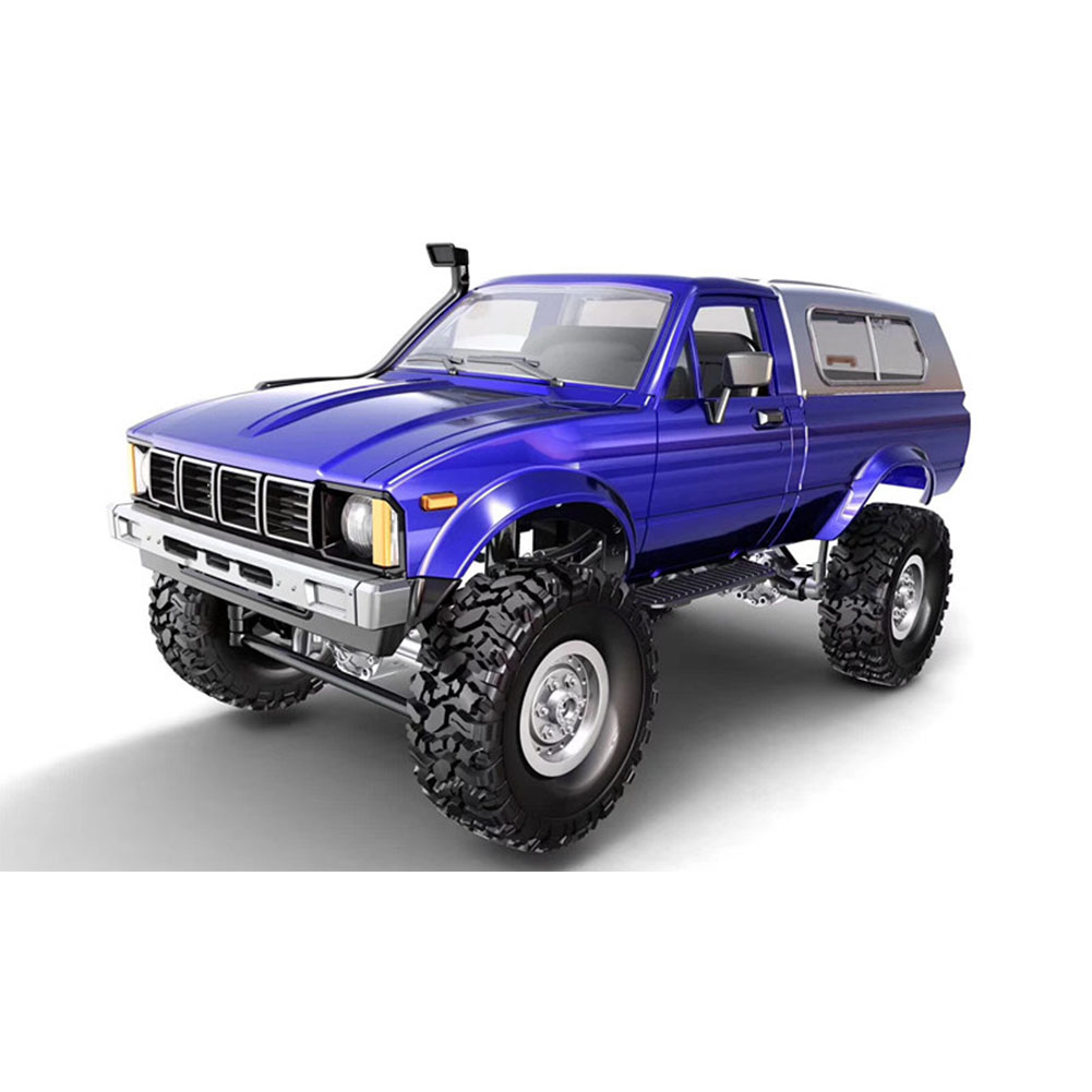 Remote Control Military Truck 4 Wheel Drive Off-Road RC Car Model Remote Control Climbing Car Gift Toy Blue KIT