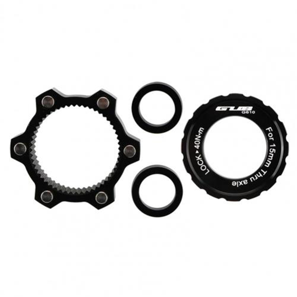 1 Set G610 Center  Lock  To  6-hole  Adapter 100*15 To 110*15 Center Lock Conversion Washer Black