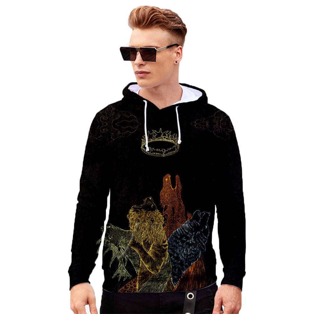 Men Women Stylish Cool Loose Game of Thrones 3D Printing Sweatshirt Hoodies Style I_XXL
