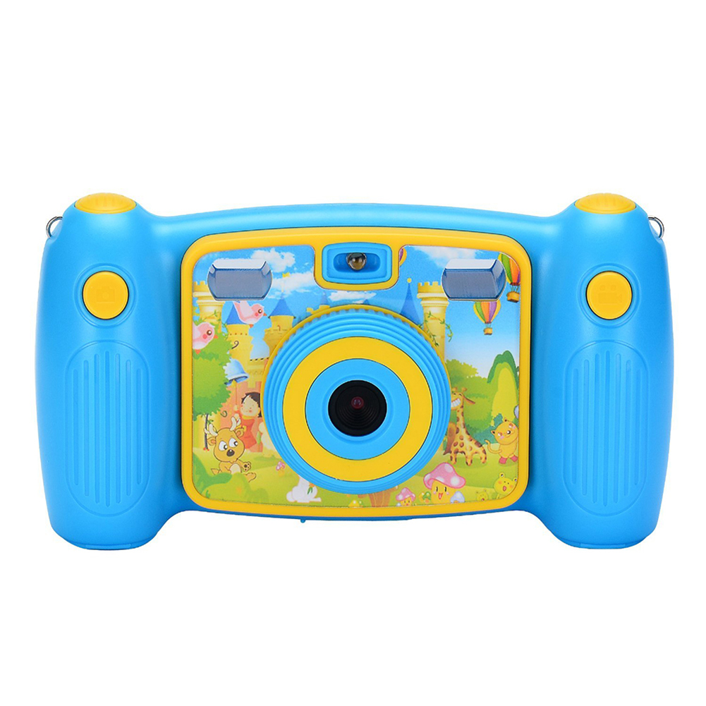 Cute Cartoon Kids Action Camera Blue
