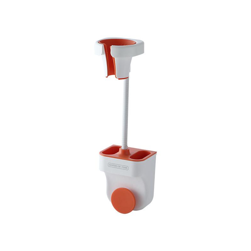 Punch-free Universal Shower  Bracket Adjustable Shower Holder Bathroom Accessories Hair dryer rack Nordic orange