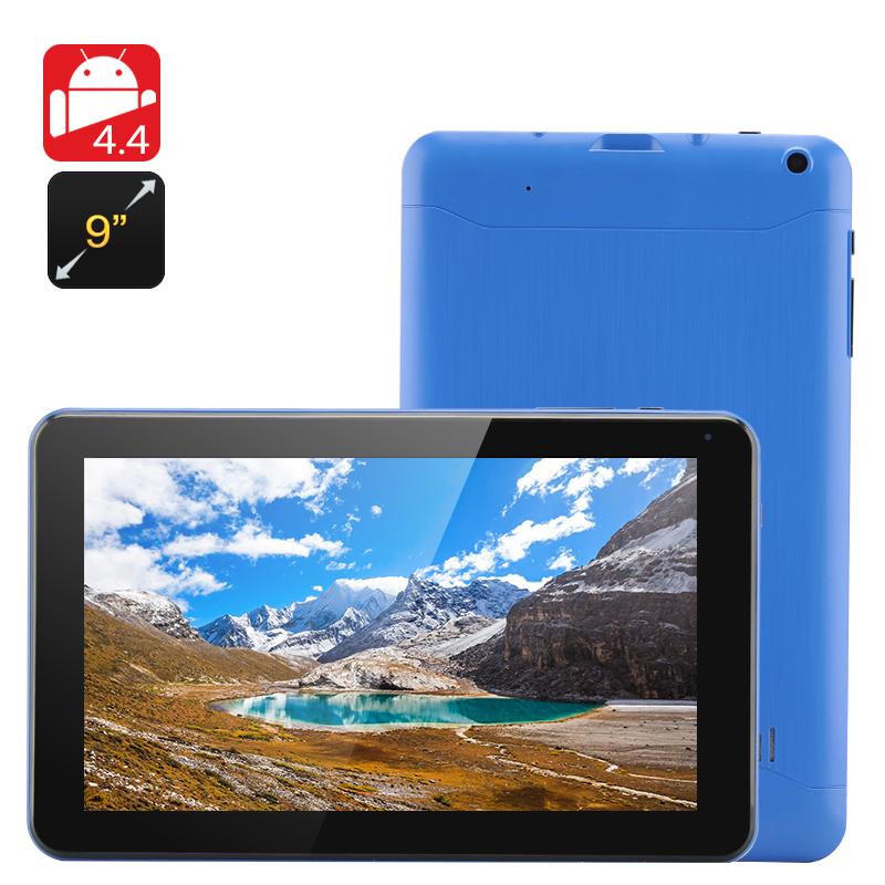9 Inch Android 4.4 Tablet 'Iota' (Blue)