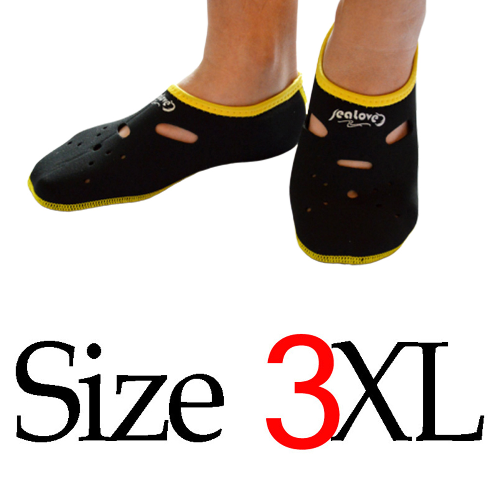 Water Sports Neoprene Diving Socks Anti Skid Beach Sock Swimming Surfing Neoprene Socks Adult Diving Boots Wet Shoes black_3XL