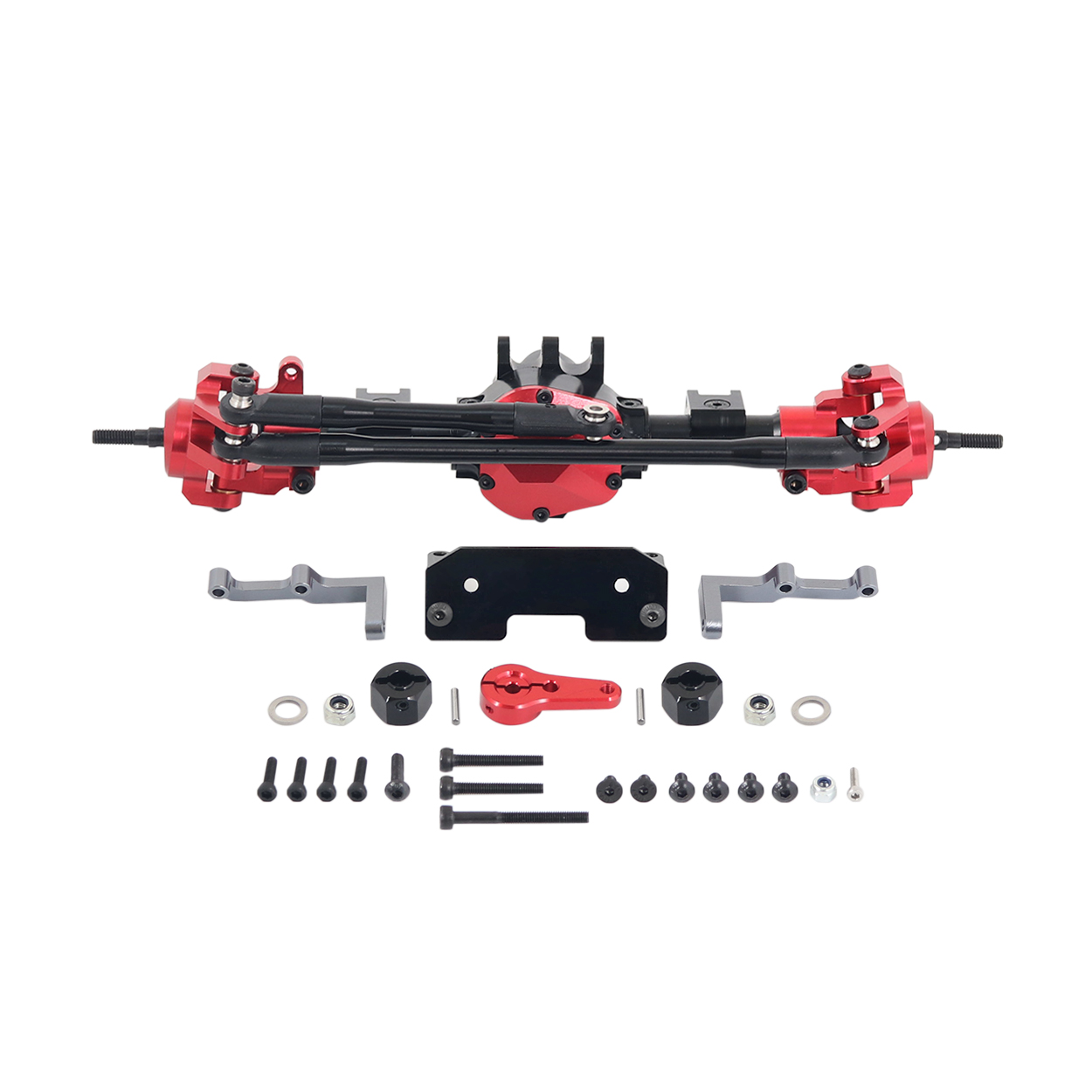 RC Car CNC Metal Front / Rear Axle with Protector for 1:10 RC Crawler Car Axial SCX10 II 90046 90047 Front axle