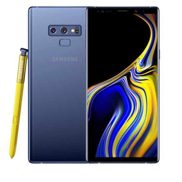 Used Samsung Galaxy Note9 European Version Single SIM Mobile Phone 6+128GB 4000mAh NFC 4G phone blue