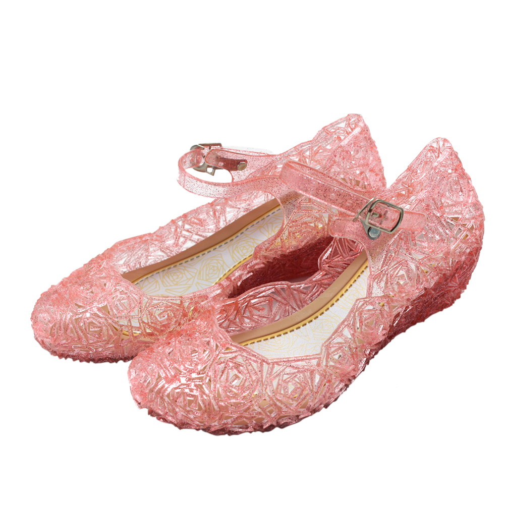 Kids Girls Sandals for Summer Party Role Play Wear red_30