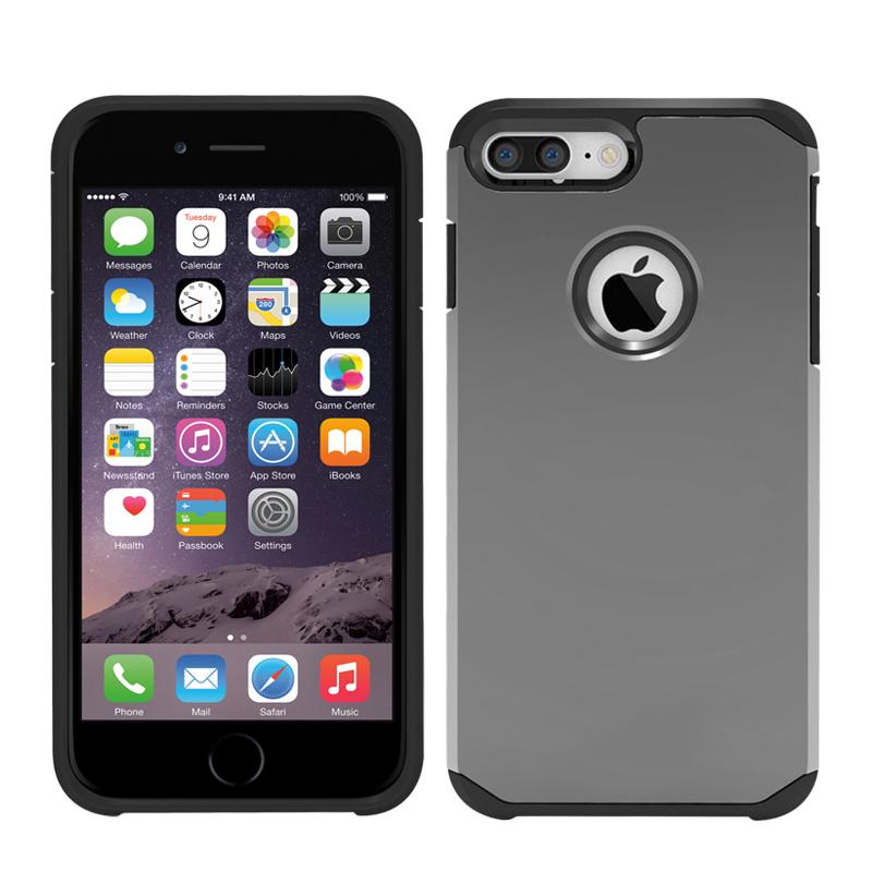 Smooth iPhone7 Plus Case Slim Armor Back Case for iPhone7 Plus Grey