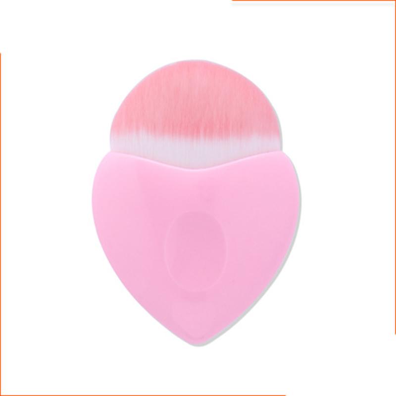 Mermaid Soft Cosmetic Brush, Heart-shaped Blusher Foundation Brush, Makeup Tool