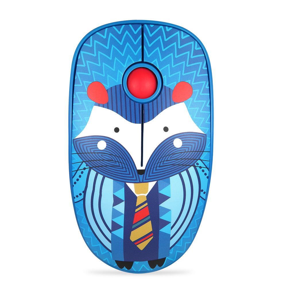 Rechargeable Computer Mouse Cartoon Animal Pattern Ultra-thin Silent Notebook Office Wireless Mouse Hedgehog