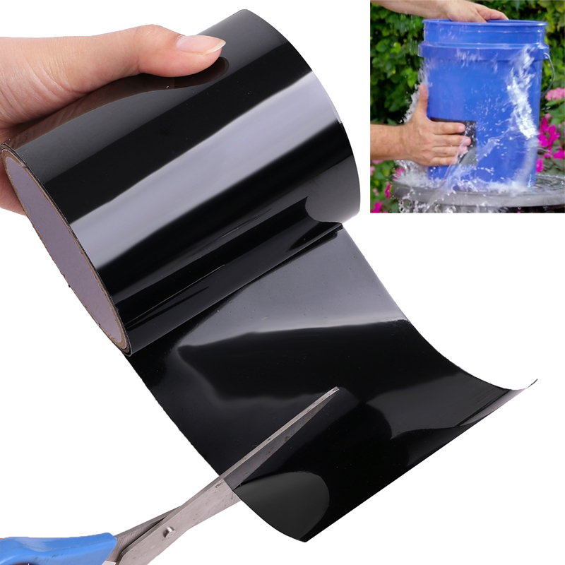 Adhesive Silicone Water Pipe Sealing  Tape 150*10cm Leakproof Waterproof Tape black