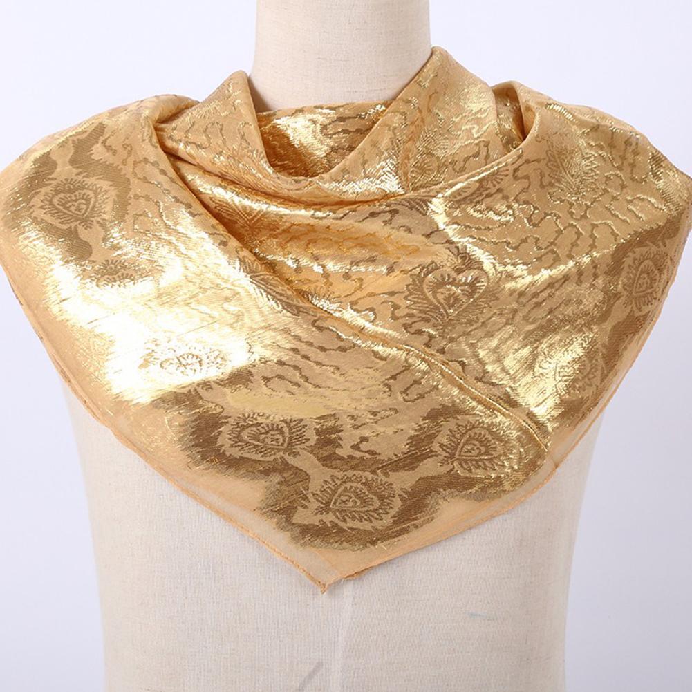 Women Smooth Silk National Style Fashion Printing  Headscarf  C4_85*85cm