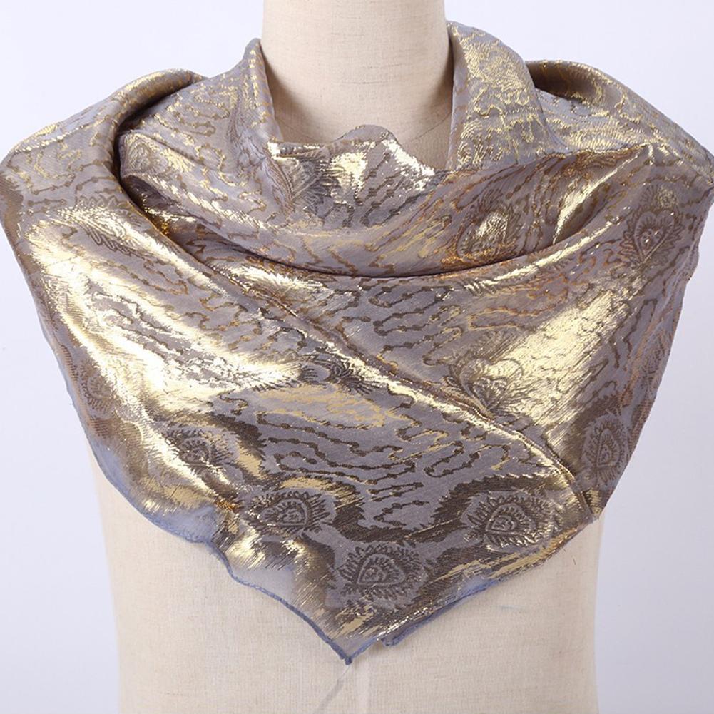 Women Smooth Silk National Style Fashion Printing  Headscarf  C3_85*85cm