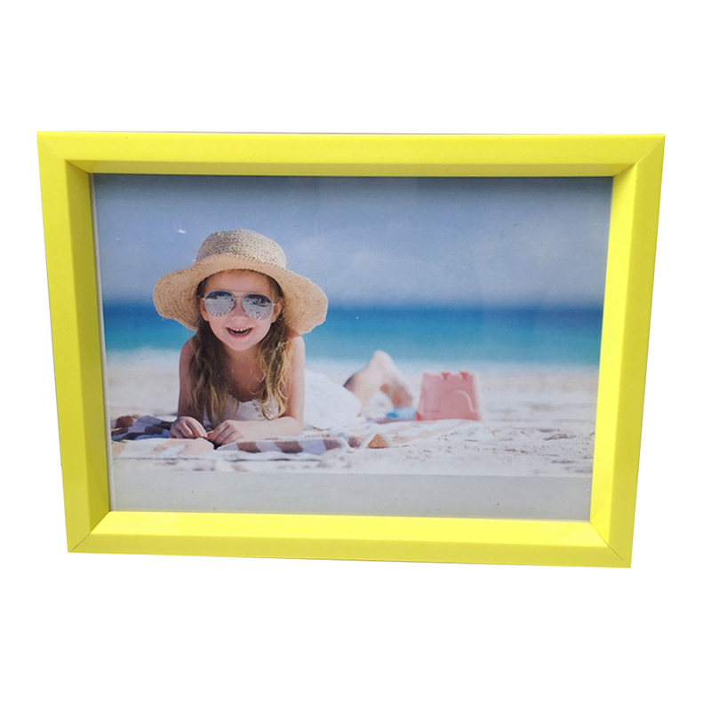 Creative Simple 7 inch Room Office Decor Plastic Picture Photo Wall Frame Stylish Colorful Photo Pendulum