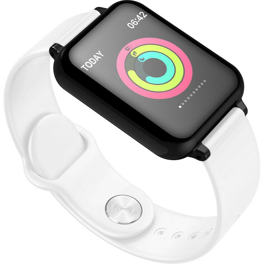 IP67 Waterproof Smartwatch Heart Rate Monitor Multiple Sport Model Fitness Tracker  white