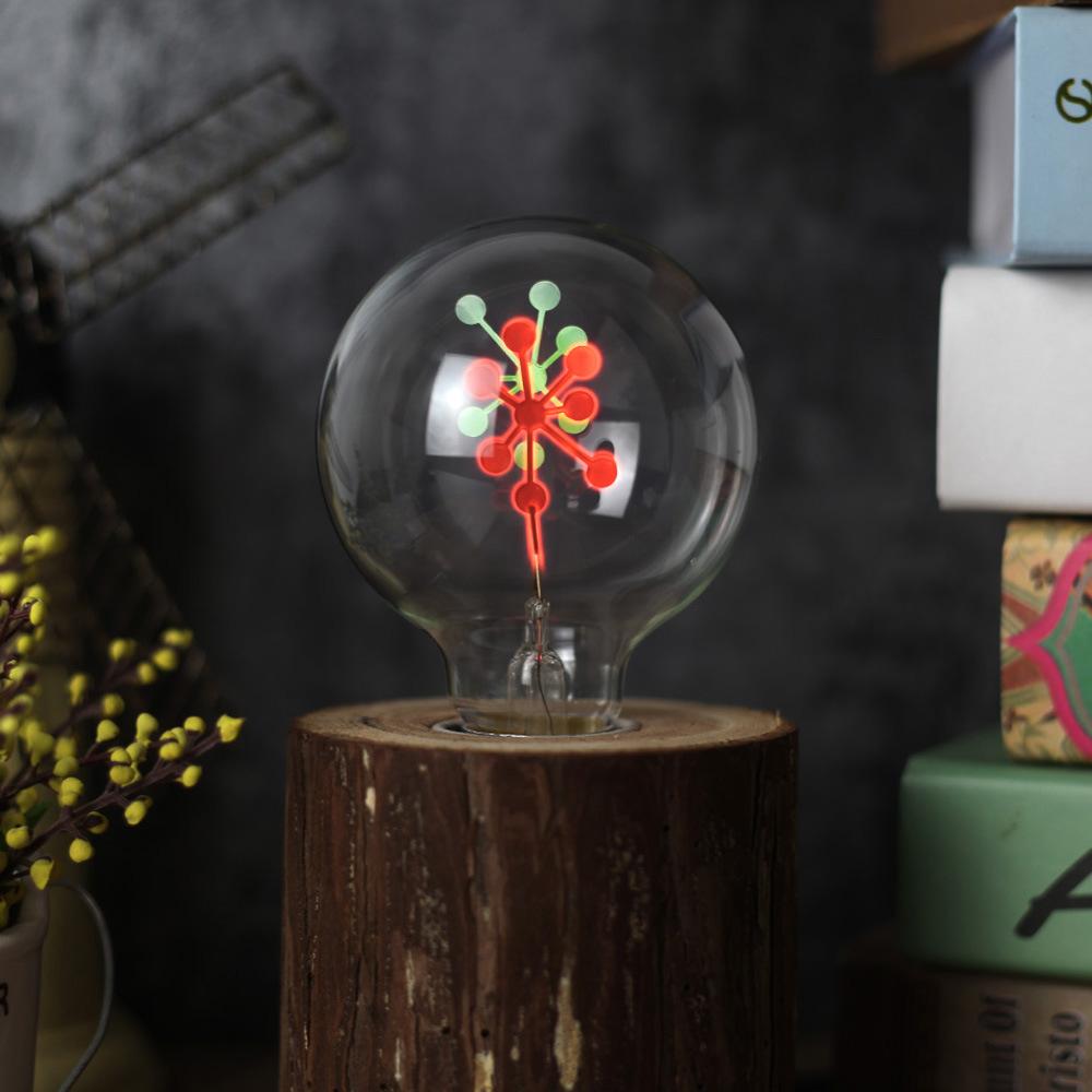 G80 Flame Lamp Glass Christmas Holiday Lights Bulb Night Light for Valentine Decor