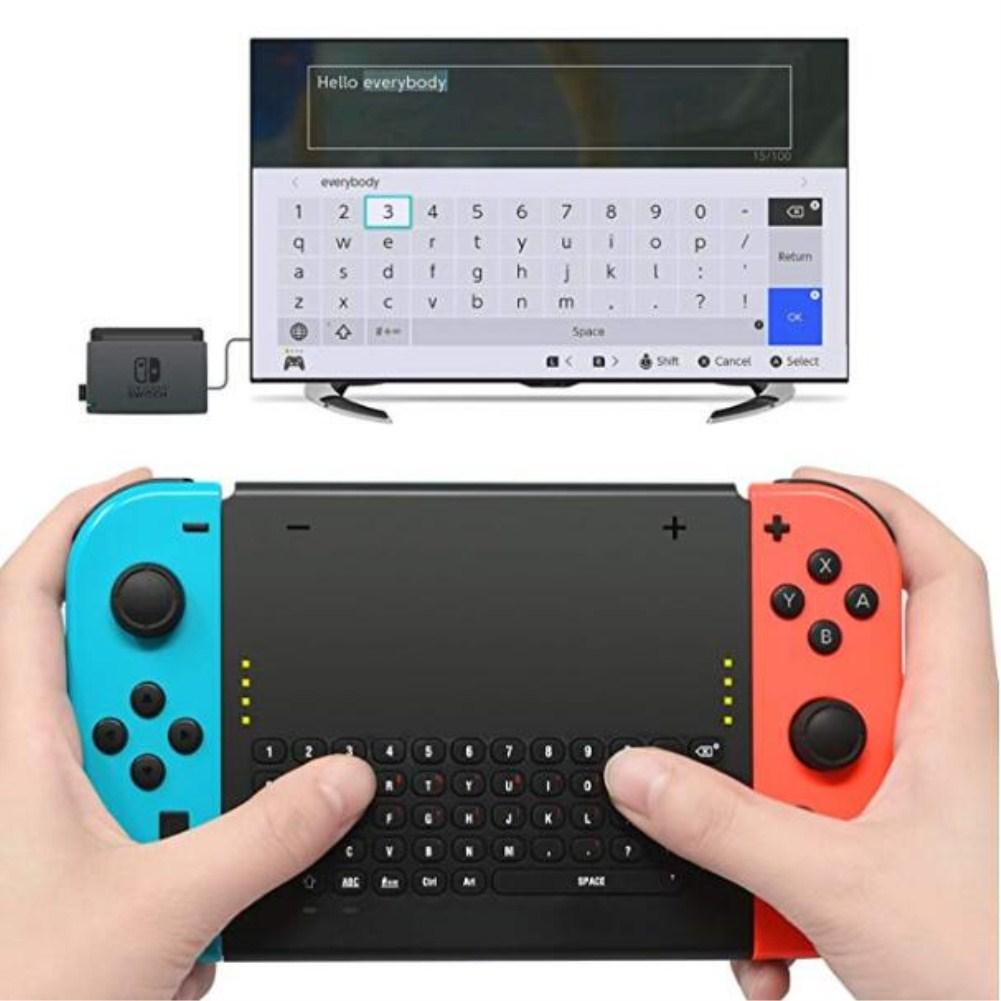 2.4G Wireless Keyboard for Nintendo Switch Joy Con Gamepad Keyboard black