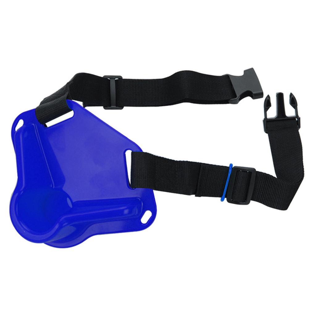 Universal Fishing Belt Belly Protector Oxford Cloth Sea Fishing Rotating Waist Rod  Holder Adjustable Fishing Equipment Blue