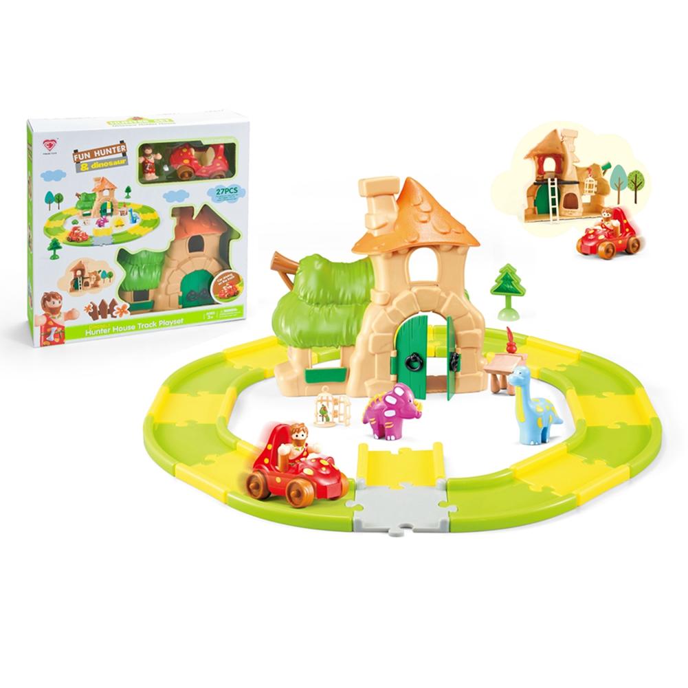 [US Direct] Children Mushroom House Design Toy Educational Scene Track Toy