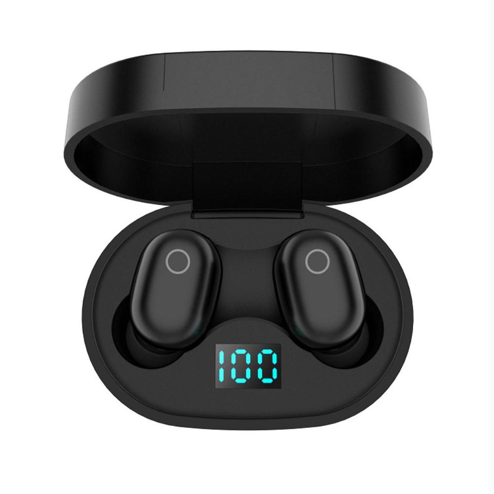 F2 TWS Bluetooth Earphone 5.0 Stereo Sport Headset black