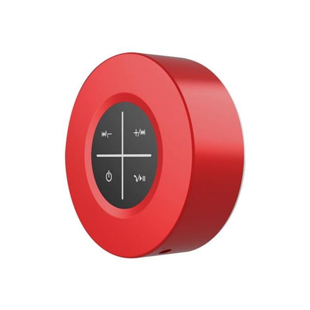 Portable Bluetooth Speaker Wireless Subwoofer Hands Free Calling Loudspeaker Speaker with Microphone red