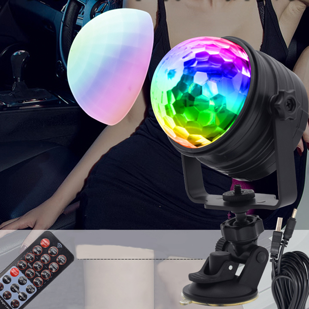 LED Vehicle Mounted Small 7Colors Change Stage Light with Remote Control