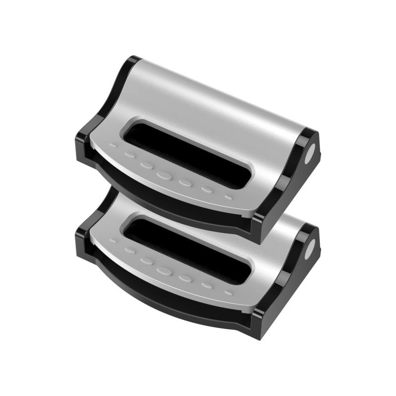 Universal Car Safety Belt Clip Buckle Belt Fixer Seat Strap Adjuster Stopper Silver