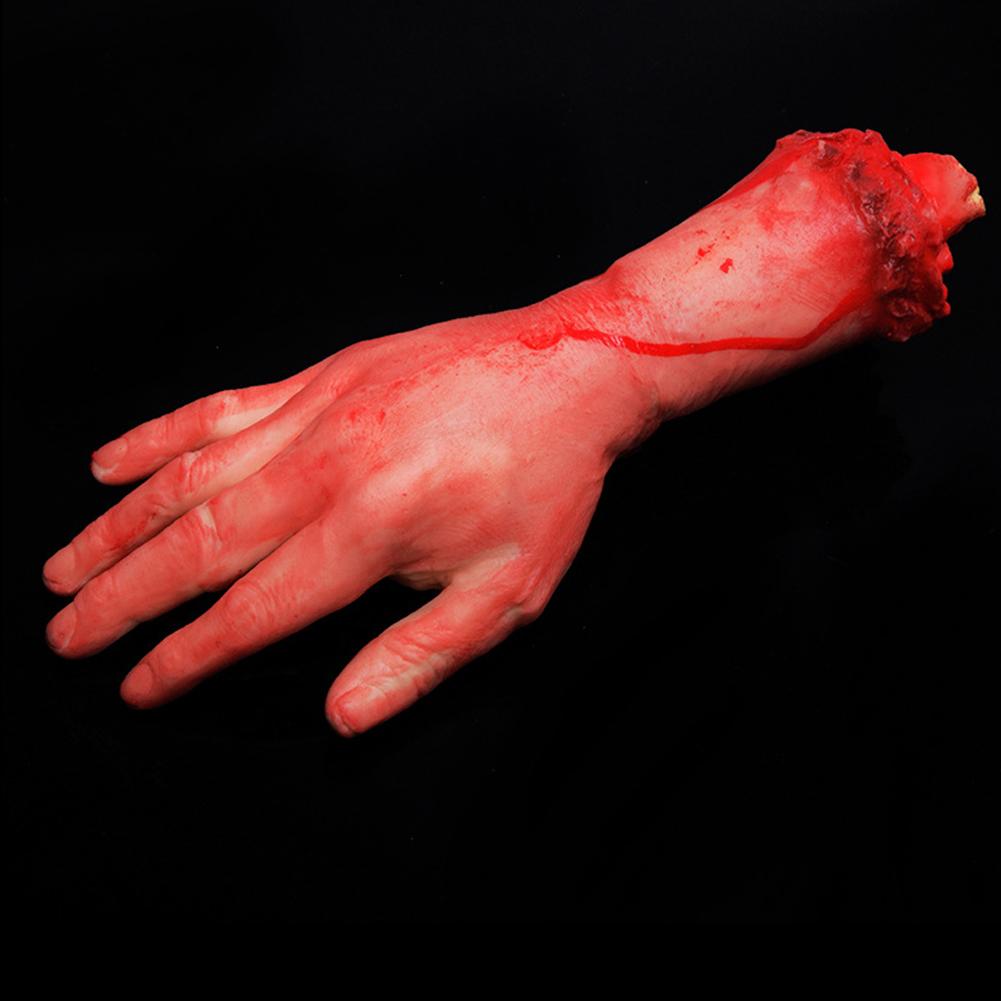 Halloween Horror Broken Finger Hand Break Foot Prop Haunted House Decoration Middle blood hand