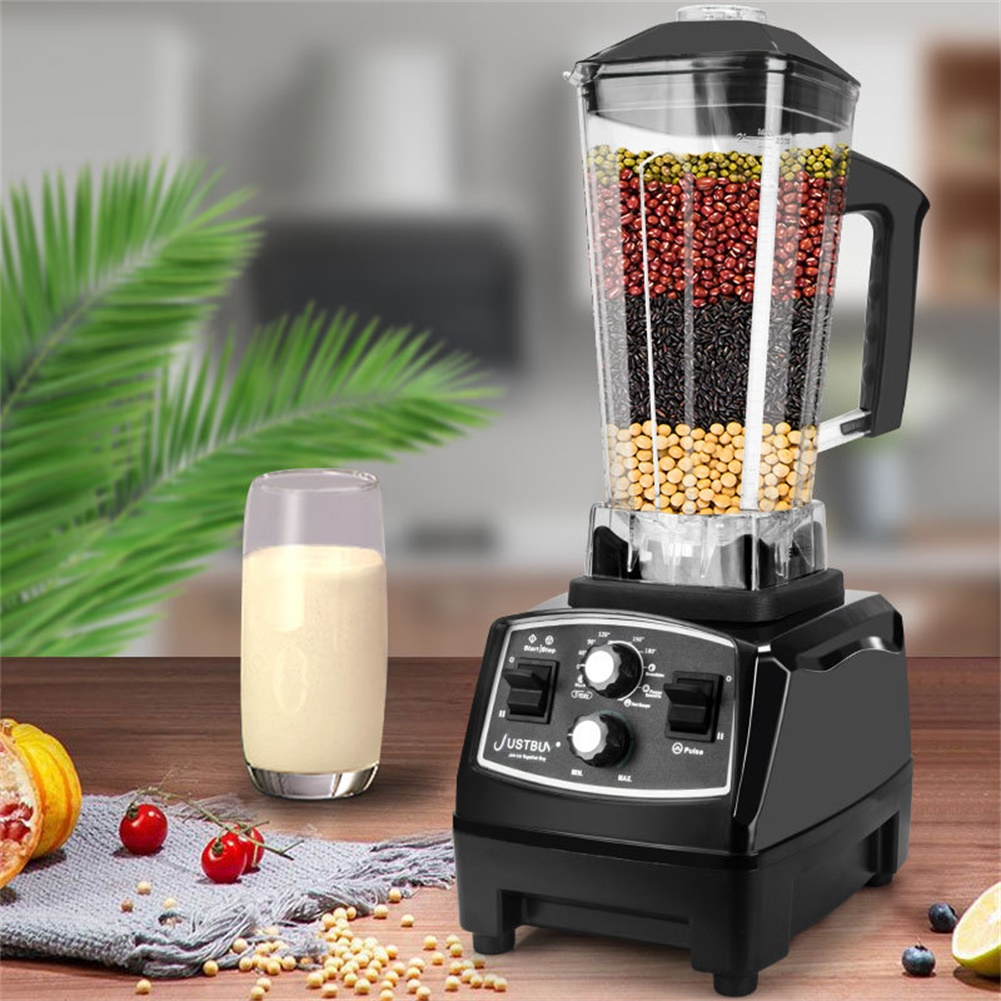 Professional Countertop Timing Blender Mixer for Shakes Smoothies Crusing Ice black