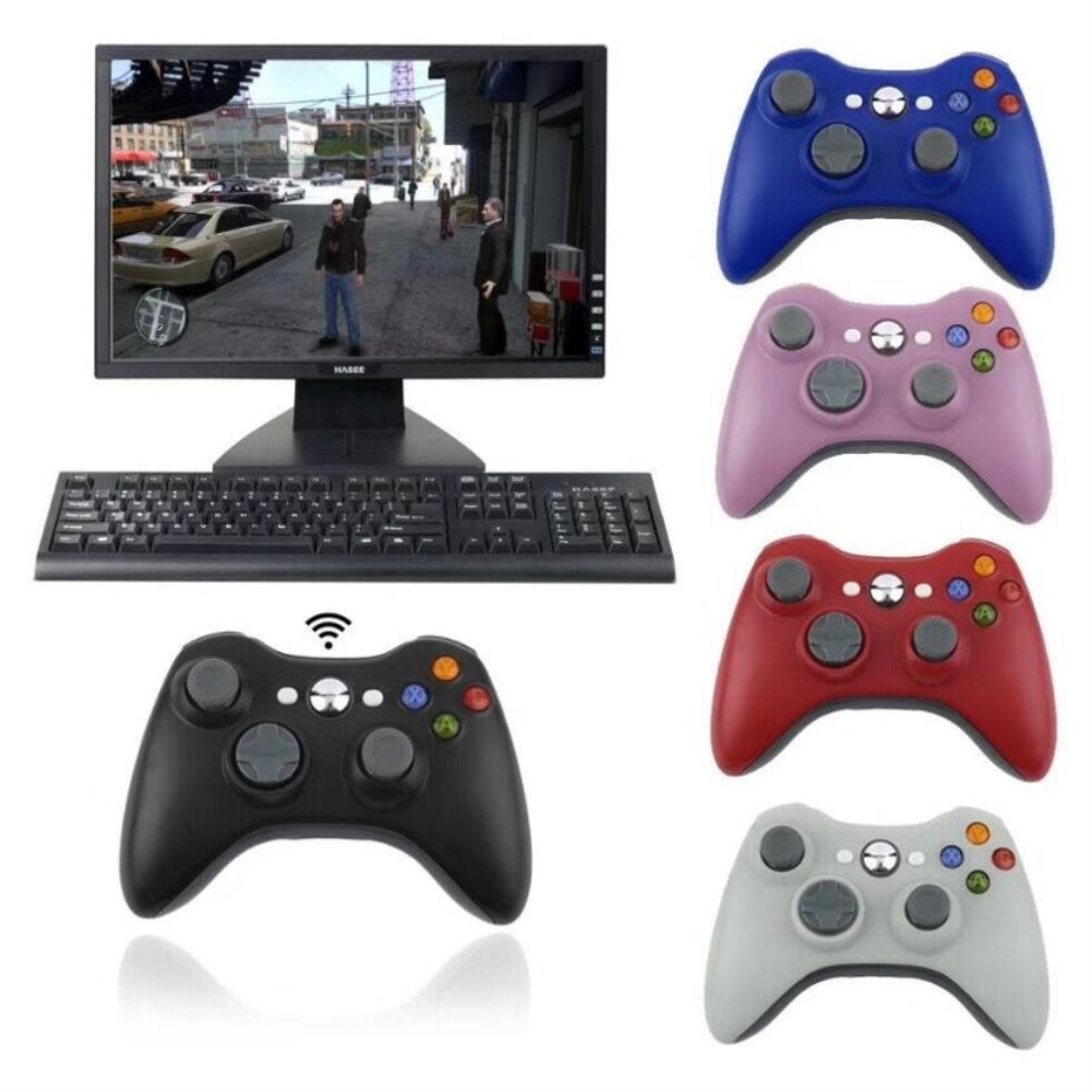 XBOX360 Wireless Bluetooth Double Vibration Game Hand Shank Pink