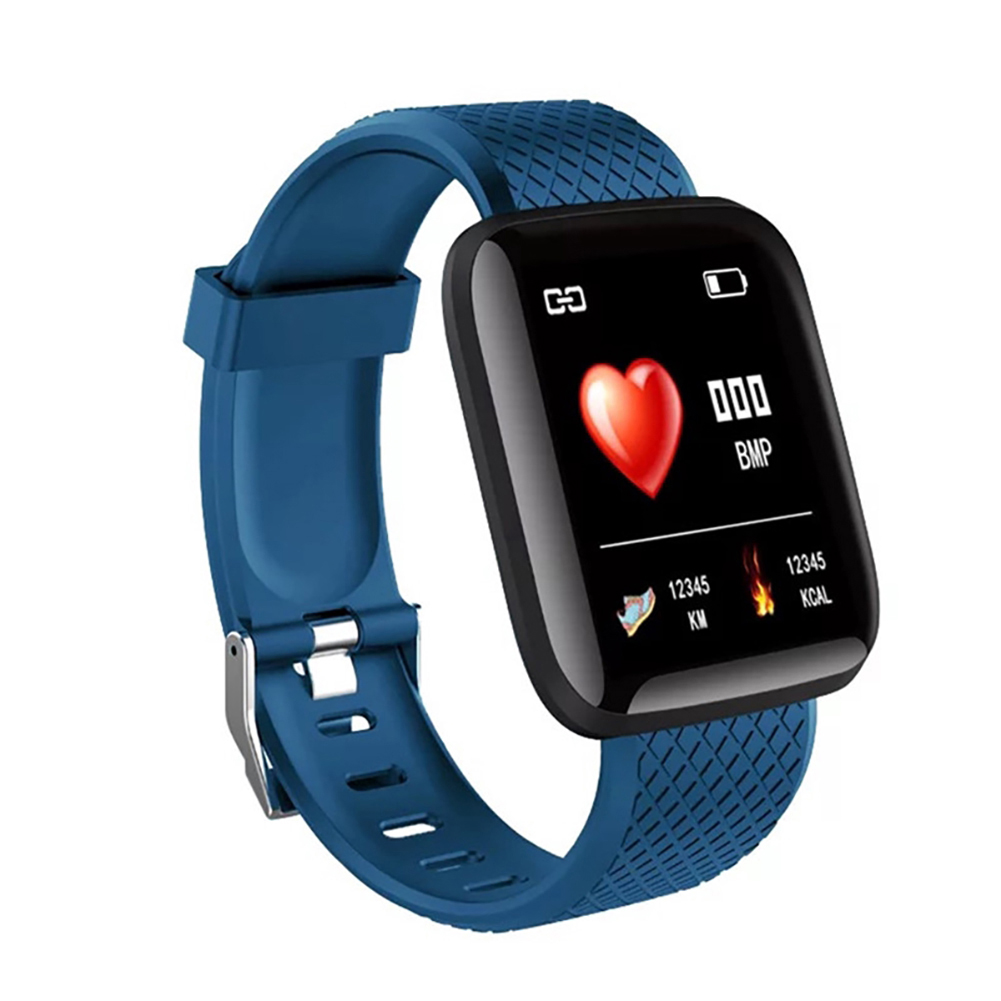 D13 Smart Watches Heart Rate Watch Colorful Screen 116plus with TPU Wristband IP67 Waterproof Fitpro blue