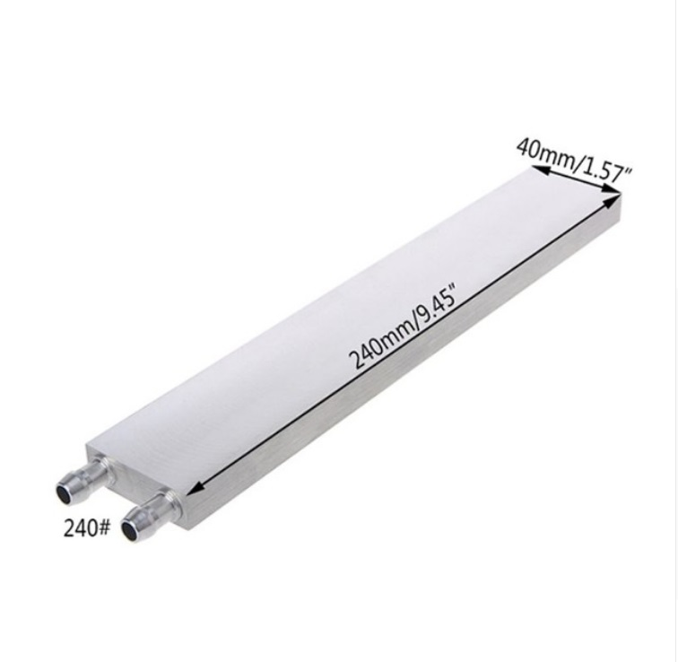 Aluminum Liquid-Water Cooling Block for Computer CPU Radiator for PC And Laptop CPU Heat Sink System 40*240