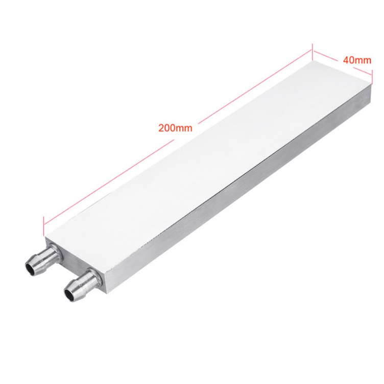 Aluminum Liquid-Water Cooling Block for Computer CPU Radiator for PC And Laptop CPU Heat Sink System 40*200