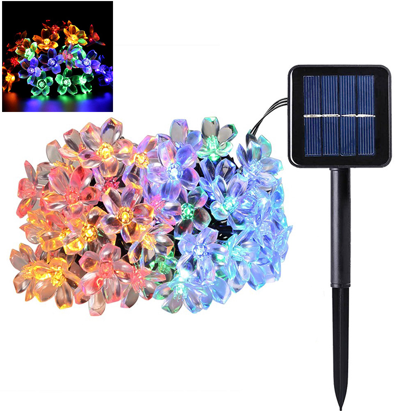 Colorful LED Flower Light String