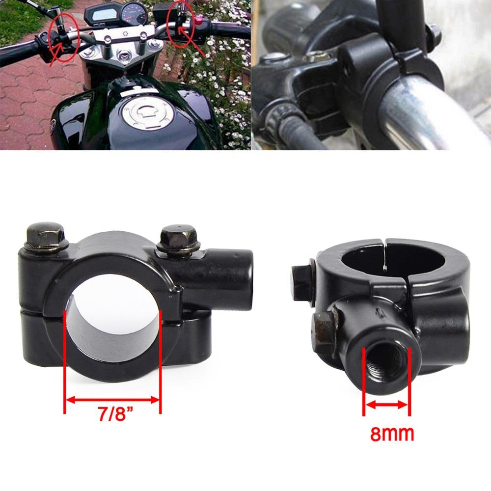 Motorcycle Handlebar Mirror Adaptor Rear View Mirror Holder Mount Bracket Clamp black