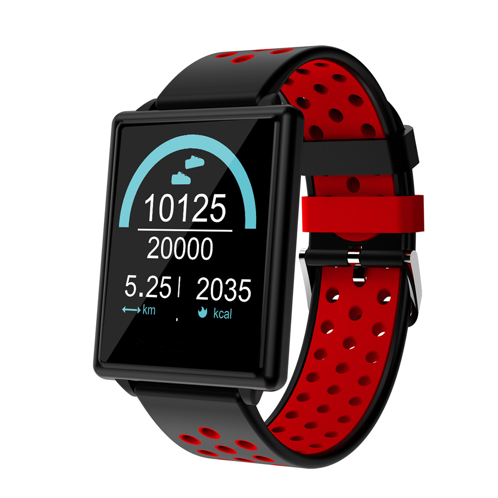 Blue Color Screen Smart Bracelet Heart Rate Blood Pressure Detector Information Remind Double Color Strap Watch