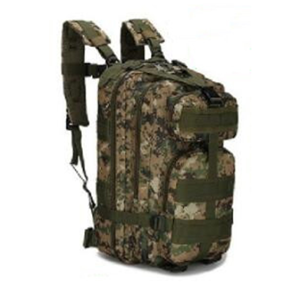 3P Tactical Military Backpack Oxford Sport Bag Camping Traveling Hiking Backpack  Jungle digital_One size