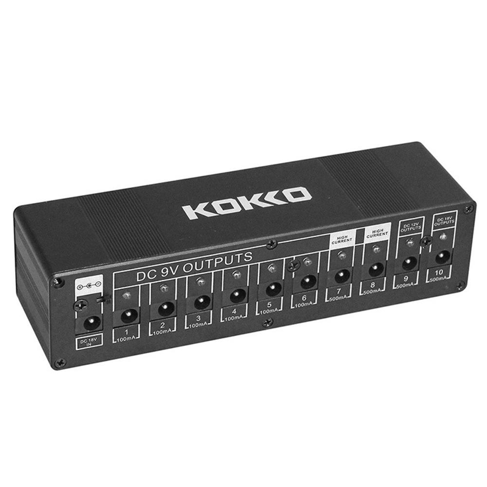 KOKKO Guitar Pedal Power Supply Compact 10ways Safety Voltage Protection EU plug
